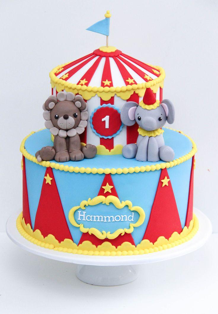 Zirkus-Geburtstags-Kuchen-Zirkus-Geburtstags-Geburtstags-Kuchen-Darlehen Cao auf Satinice Zirkus   – 1st bday ideas