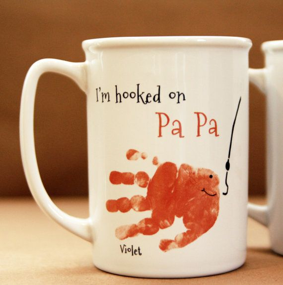 Fish Handprint Mug 402_mug by MyForeverPrints on Etsy