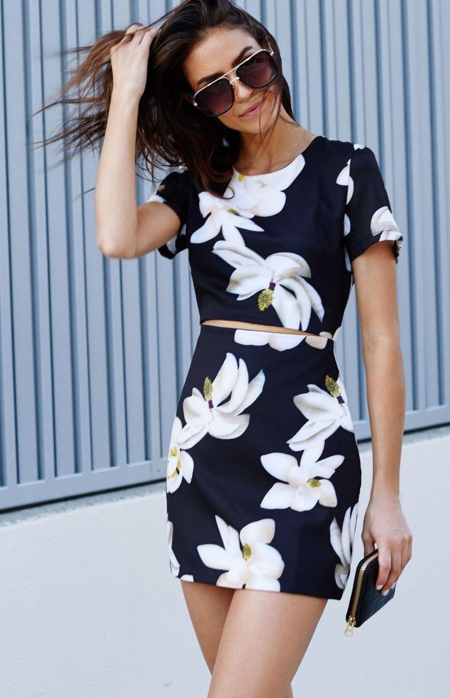 Floral Split Front Dress from Beginning Boutique