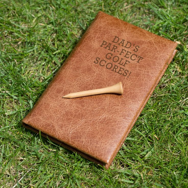 Personalised Leather Golf Score Book from Oh So Cherished.