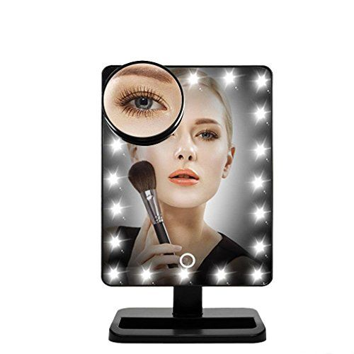 [New Version] FLYMEI?? Touch Screen 20 LED Lighted Makeup Mirror with Removable 10x Magnifying Mirrors, Include AA Batteries (4 Pack) >>> Find out more details @ http://www.amazon.com/gp/product/B01FGYVUTE/tag=homeimprtip08-20&fg=100716213815