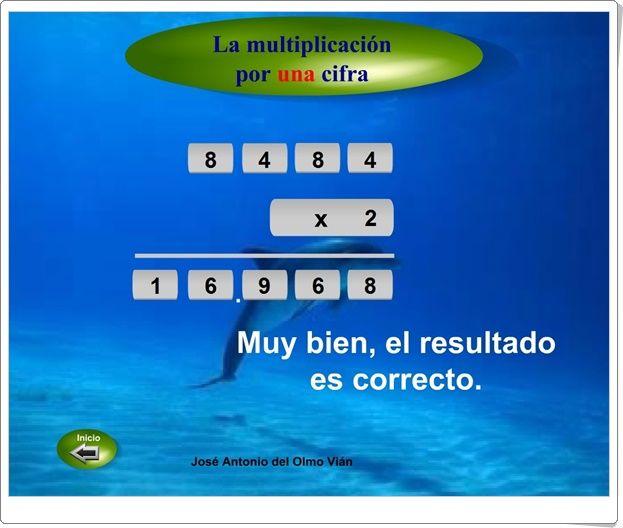 """""""La multiplicación por una cifra"""" (Matemáticas de Educación Primaria)"""