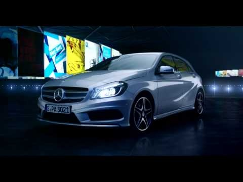 """Mercedes-Benz TV: A-Class TV-Spot """"Flow"""": Non-stop music. With the Cover Flow function in the new A-Class you can keep your favorite albums where you can see them – and where you can hear them. Discover the intuitive operation of the COMAND Online multimedia system. Fuel consumption combined: 6,4-3,6 l/100km, CO2 emissions combined: 148-92 g/km. #MBCars"""