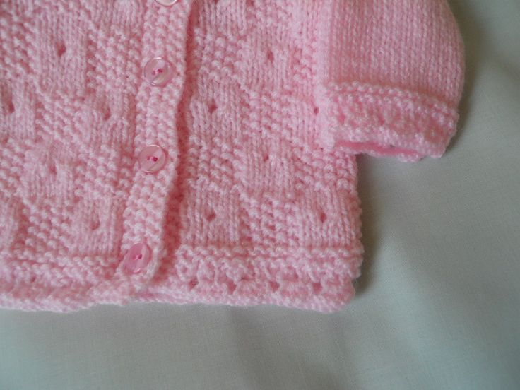 Hand Knitted Baby Girl Coat Jacket and Hat Set by littledazzler