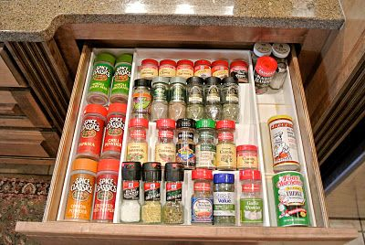 If you use a drawer to store your spices consider one of these organizers to keep everything neat {featured on Home Storage Solutions 101}