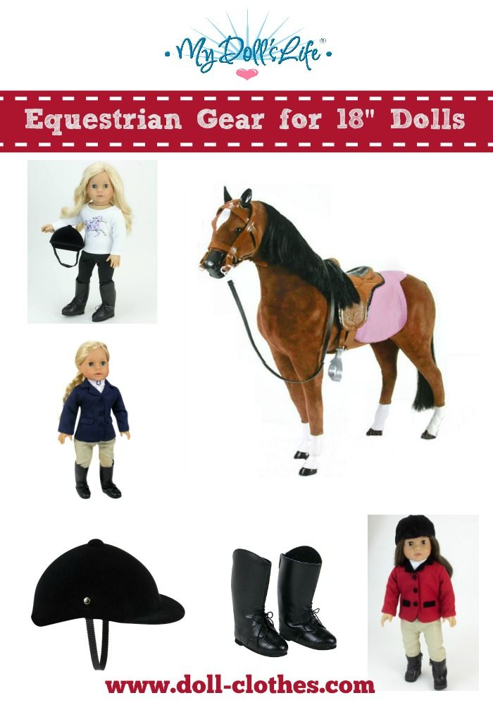 """Traditional Riding Equestrian Outfit Horse Doll Clothes For 18/"""" American Girl"""