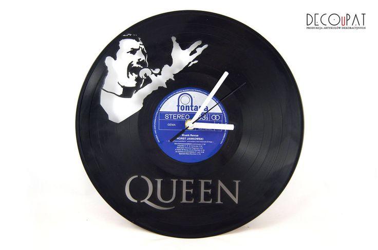 """Zegar z płyty winylowej """"Queen"""" w DECOuPAT na DaWanda.com"""