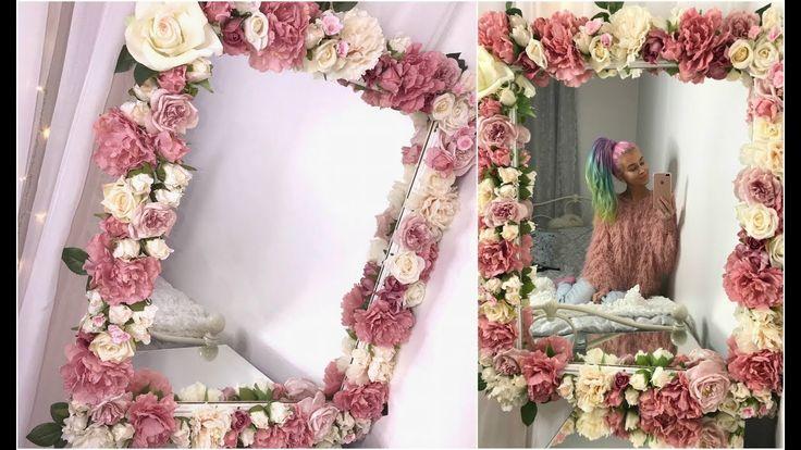 Diy Floral Mirror Tutorial Youtube In 2019 Diy Floral