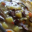 Houbová polévka s bramborem recept - fotografie - Vareni.cz