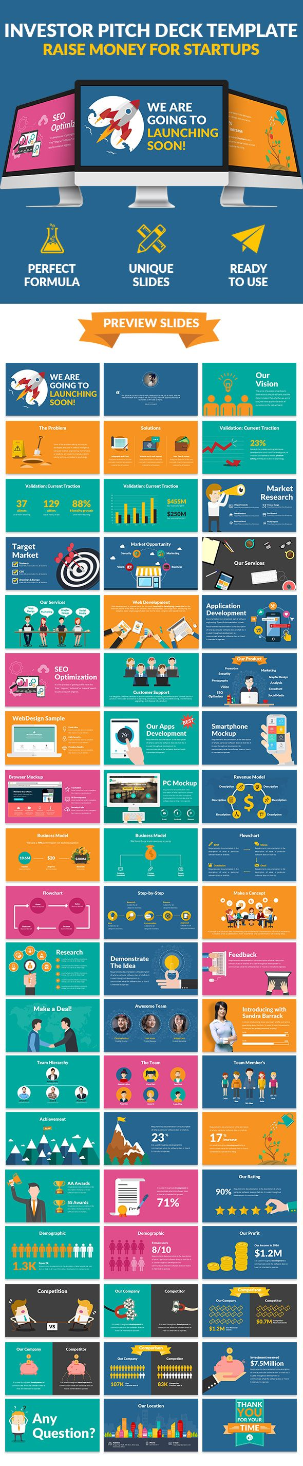 Flat Pitch Deck  Raise Money For Startups  #clean #blue • Download ➝ https://graphicriver.net/item/flat-pitch-deck-raise-money-for-startups/18161342?ref=pxcr