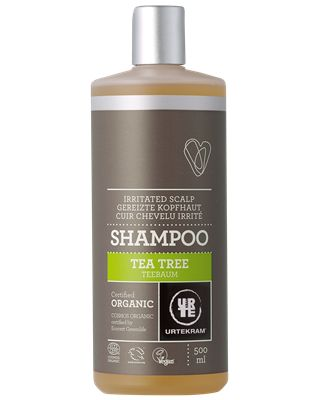 Tea tree shampoo irritated scalp organic 500ml
