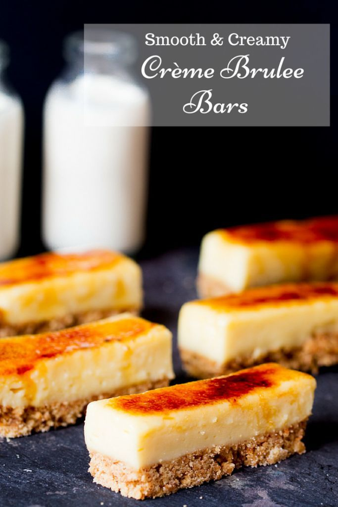 These Crème Brulee Bars are smooth, creamy and delicious - with a biscuit base and a crunchy sugar topping. Easily made gluten free too.