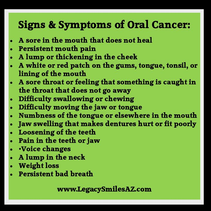 17 Best images about Overall Health, Dental Health ...Early Oral Cancer Signs