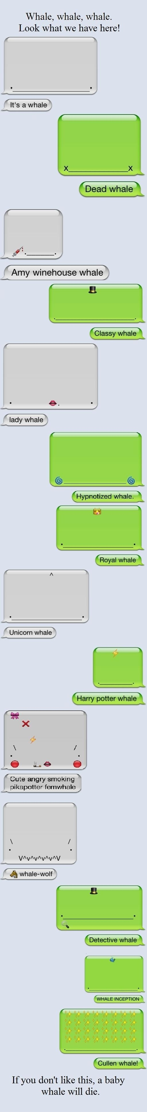 @Laura Paulsen this makes me want an iPhone just so I can send you a whale a day...oh whale...HA HA HA HA  HA AH AAHAHHAH