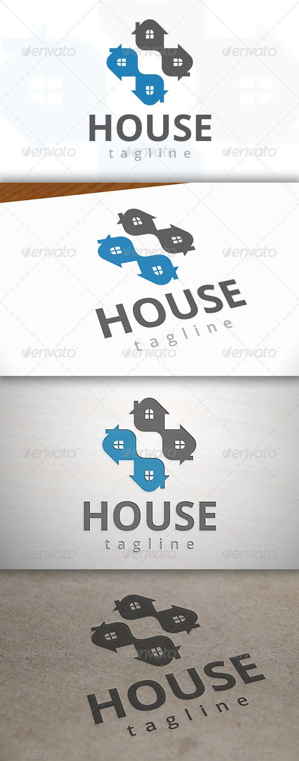 Cross House Logo — Vector EPS #property idea #horizon growth • Available here → https://graphicriver.net/item/cross-house-logo/6985921?ref=pxcr