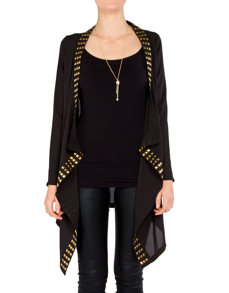 Cool studded cardigan