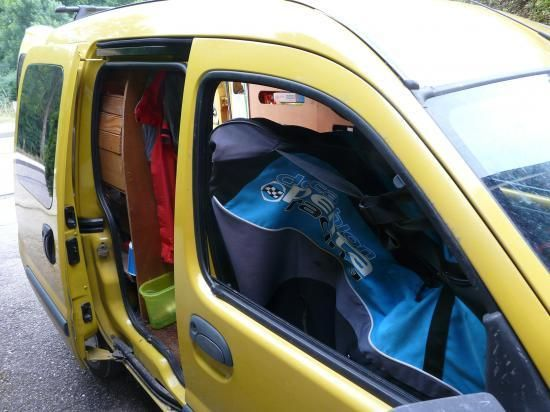 renault kangoo am nagement camping car my future van pinterest voitures et camping. Black Bedroom Furniture Sets. Home Design Ideas