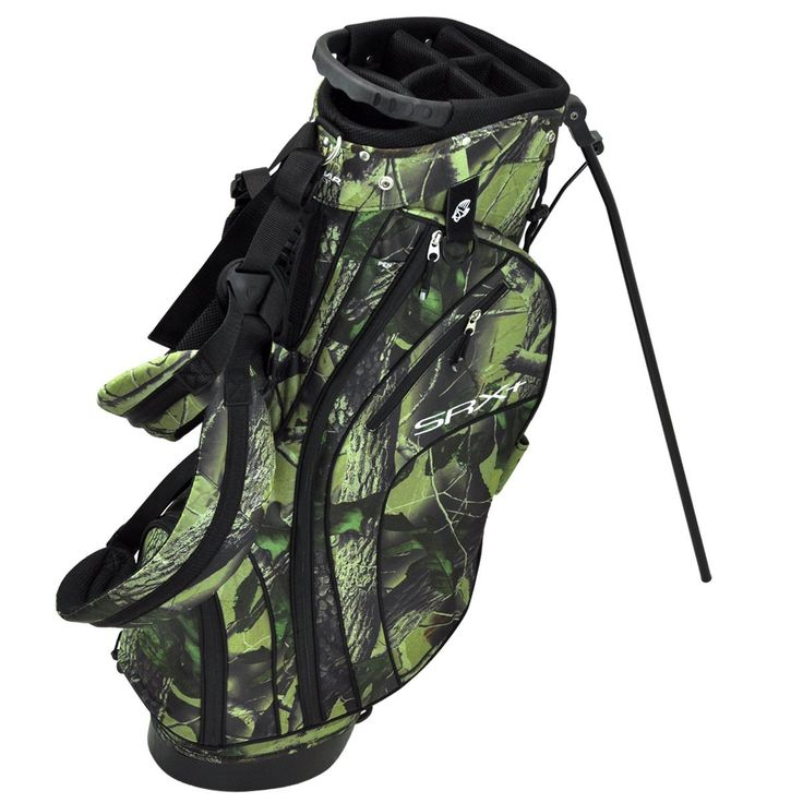 These stylish looking mens SRX+ golf stand bags by Orlimar feature a six-compartment top with integrated carry handles