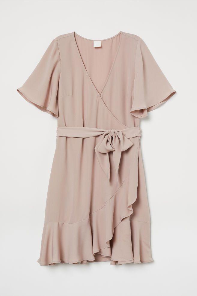 e3d395c71 H&M V-neck Wrap Dress - Pink in 2019 | ss'19 | Wrap Dress, Pink ...