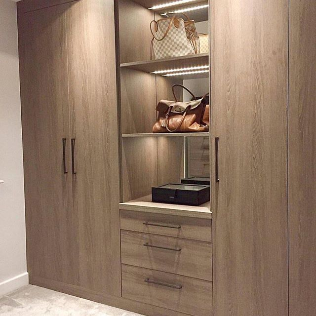 What a better way to start the Weekend than in one of Daval's bespoke dressing rooms like this one styled in Varenna Grey Oak with shelving detail...for those luxury essentials... #interiordesign #bespoke #madeinbritian #british #decor #possibiitiesareendless So why not come and visit the team at Saksons and see what we can create for you..... #york #bedroom - Architecture and Home Decor - Bedroom - Bathroom - Kitchen And Living Room Interior Design Decorating Ideas - #architecture #design…