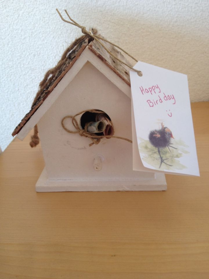 Geld in vogelhuisje