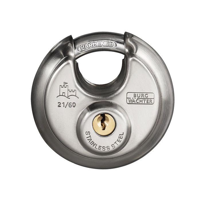 BURG-WÄCHTER Vorhängeschloss, 8 mm Bügelstärke, Kneifschutz, 2 Schlüssel, Circle 21 60 SB: Amazon.de: Baumarkt