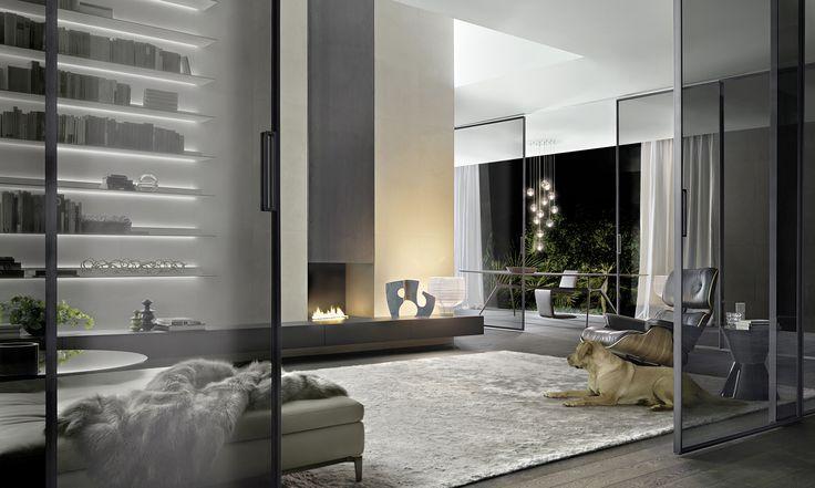 Rimadesio - Velaria porte scorrevoli per interni in vetro e alluminio, arredamento casa e ufficio - porte_scorrevoli - Rimadesio
