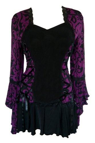 Renaissance Gothic Victorian Bolero Womens Plus Size Corset Top Blackberry   eBay