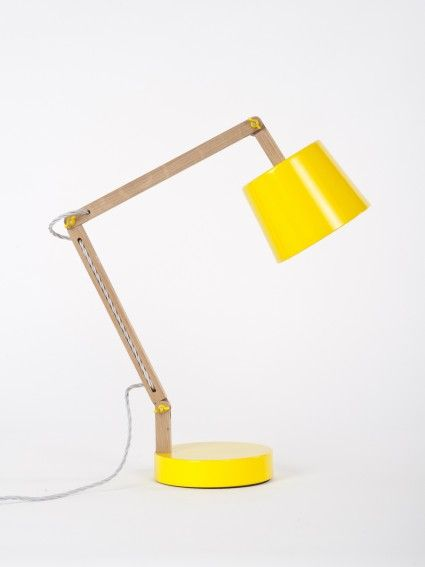Yellow Angle Table Lamp 2.0 By Workroom