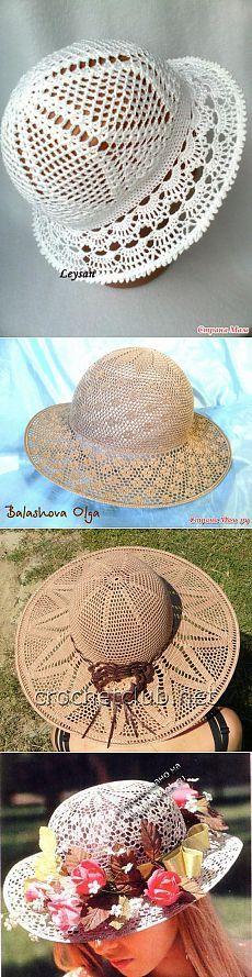 Sovmestniki na letní klobouky.  / Háčkování / pletení dobrodružství