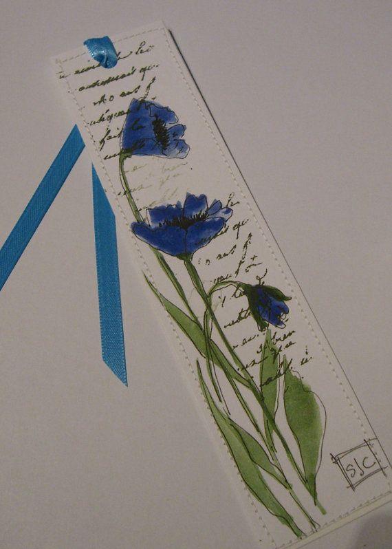 Watercolor Floral Bookmark di Wildflowerhouse su Etsy