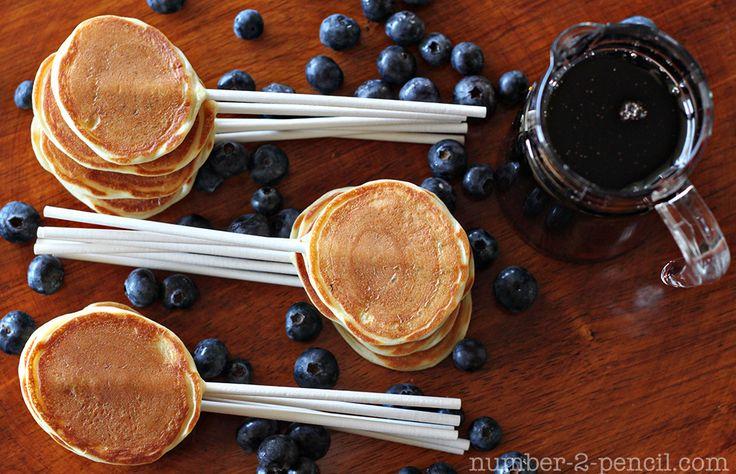 pancake pops-brunch showerBirthday Breakfast, Pancakes Pop, Bites Size, Food, Sticks, Fathers Day, Kids, Breakfast Recipe, Breakfast Parties