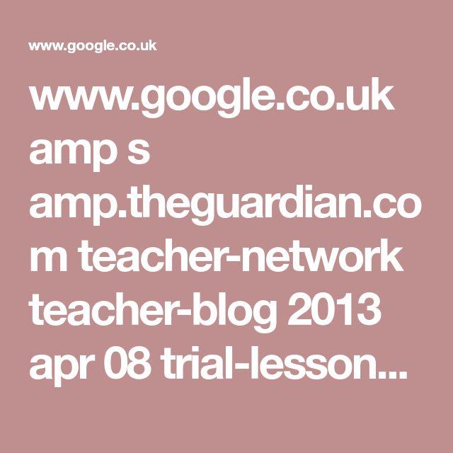 www.google.co.uk amp s amp.theguardian.com teacher-network teacher-blog 2013 apr 08 trial-lesson-ideas-primary-school-job-interview