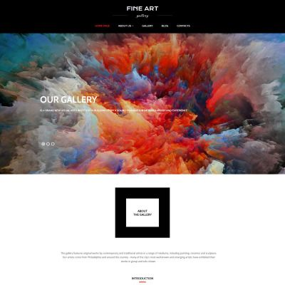 Art Gallery Premium Moto CMS 3 Template