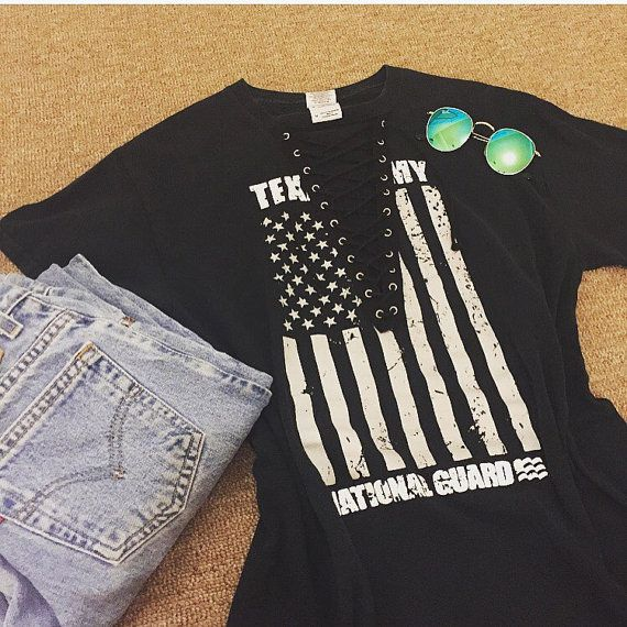 50 DOLLAR SALE Texas Army national guard lace up tee