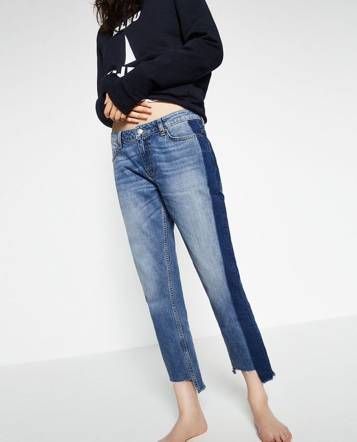 ZARA - WOMAN - RELAXED FIT MID-RISE JEANS