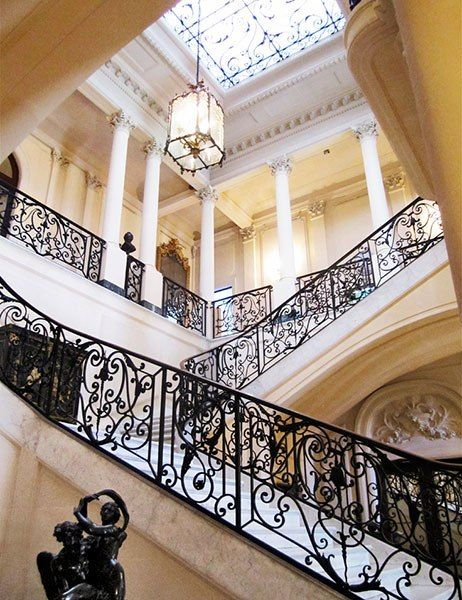 The staircase of the Museum of Decorative Arts, a former sugar magnate's mansion dating from the '20s.  502 Calle 17; +53-7-830-9848.