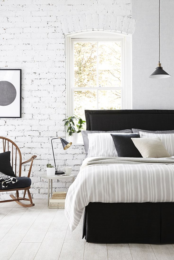 Neutral colours in this beautiful bedroom Black