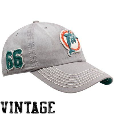 '47 Brand Miami Dolphins Gray Dreadnought Throwback Franchise Fitted Hat