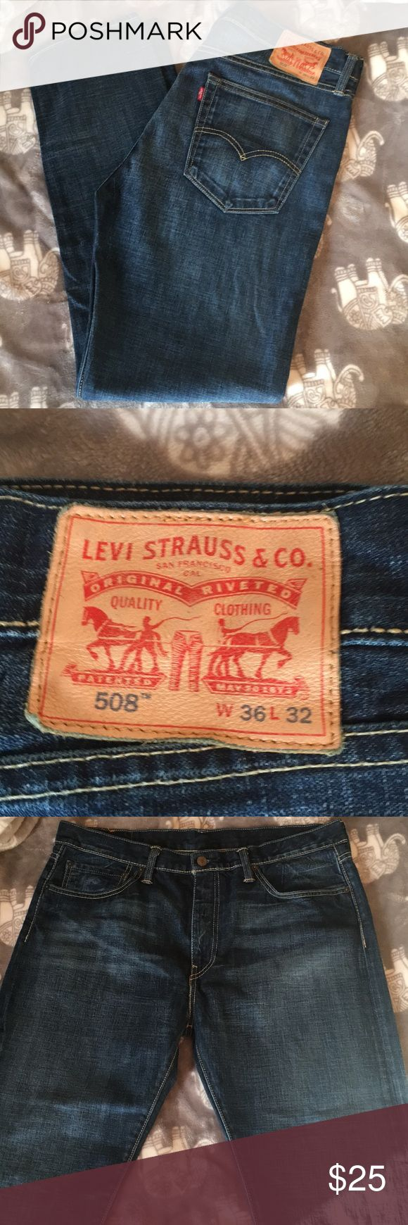 Levi jeans Good used condition Levi's 508 W36 L 32. Worm only a handful of times. Levi's Jeans Slim Straight