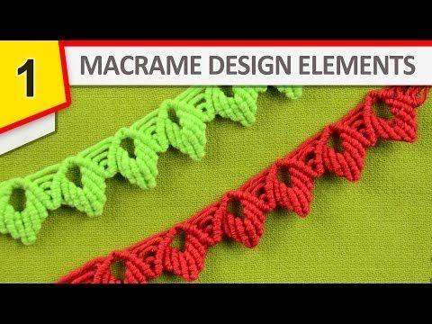 Design Elements - Macrame edging - YouTube