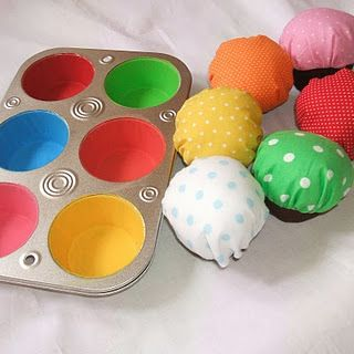 Cupcake matching game (plus a fun dramatic play toy). I really need to learn how to sew....