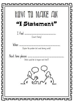 Conflict Resolution Game, Using I-Statements | Therapy ...