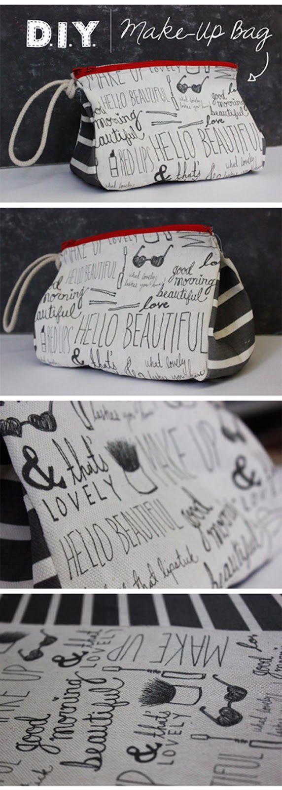 how to print on canvas/fabric + diy make up bag // tutorial imprimir en tela y patrón bolsa maquillaje