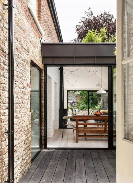 Zinc-clad extension added to Victorian-era property in north London