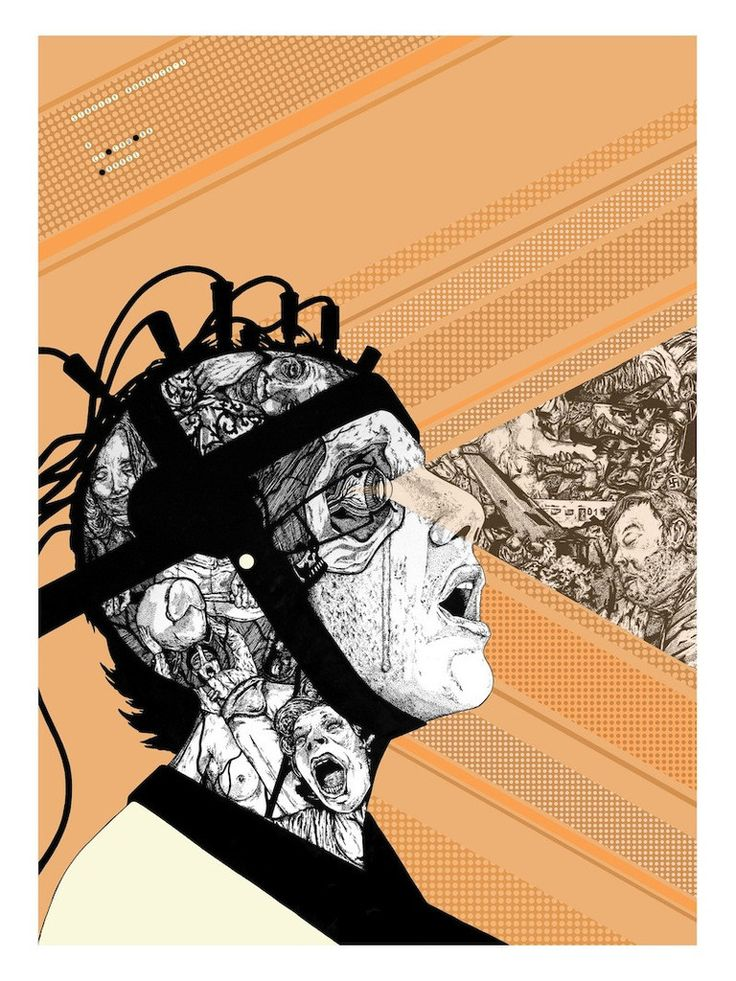 """A Clockwork Orange"" by Chris Brake $40.00 HERO COMPLEX GALLERY PRESENTS: ""IMAGINED WORLDS; The Imagined Worlds of del Toro, Gilliam, Kubrick, Lynch & Scott"""