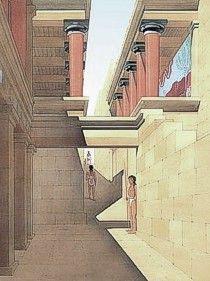 Knossos Palace & Archaeological Site, Crete island, Greece:The Palace