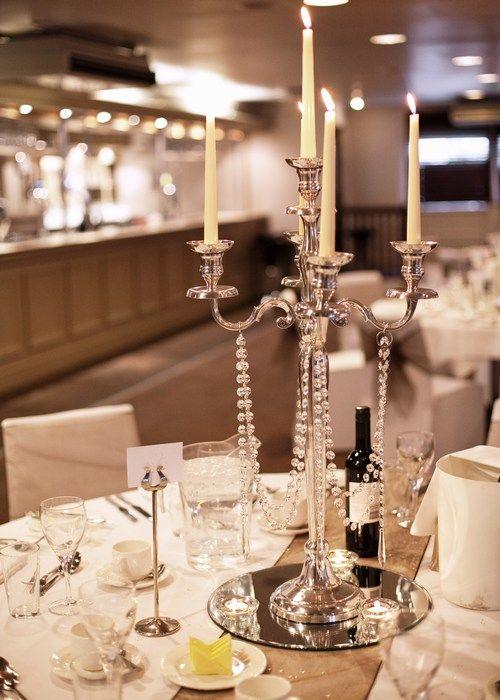 Simple candelabra wedding centerpiece google search