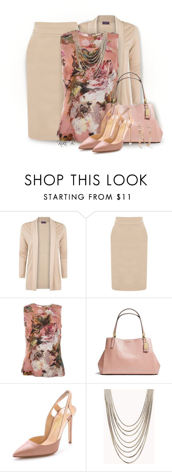 """""""Working Monday"""" by kiki-bi ❤ liked on Polyvore featuring MANGO, Oasis, Dolce&Gabbana, Coach, Alejandro Ingelmo, Forever 21 and Ippolita"""