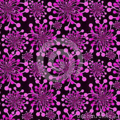 Purple fireworks explosions background seamless pattern. (C) Celia Ascenso 2017